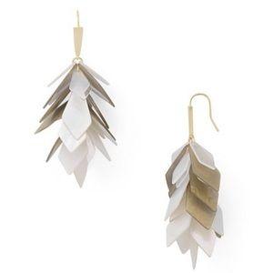 NWT Kendra Scott Jenni Gold Earrings in Ivory Mix